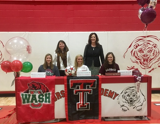 Three Athletes Sign Letters of Intent