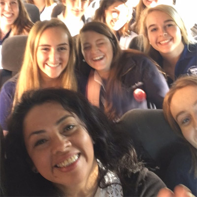 Ursuline Academy students in Chile.