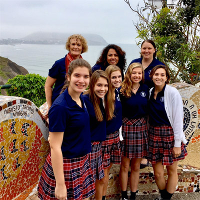 Ursuline academy of Dallas students in Lima.