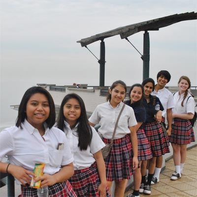 Ursuline academy of Dallas students in Lima, Peru.