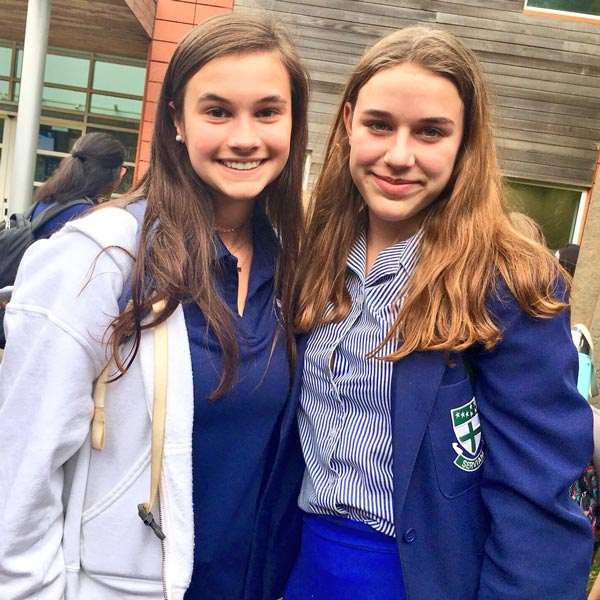 Ursuline Academy students in the UK.